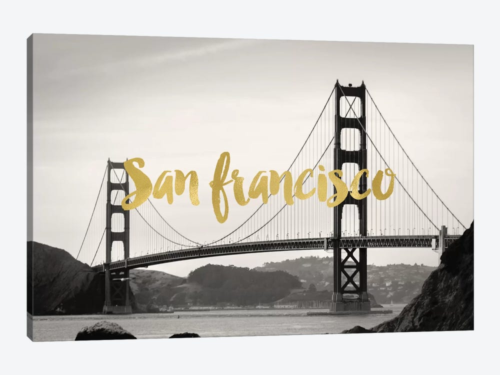 San Francisco Golden Gate Gold by Willow & Olive 1-piece Canvas Print