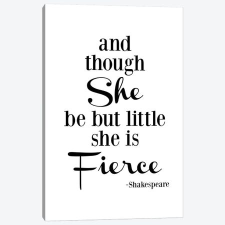 She Is Fierce - Shakespeare Canvas Print #WAO57} by Willow & Olive Canvas Art Print