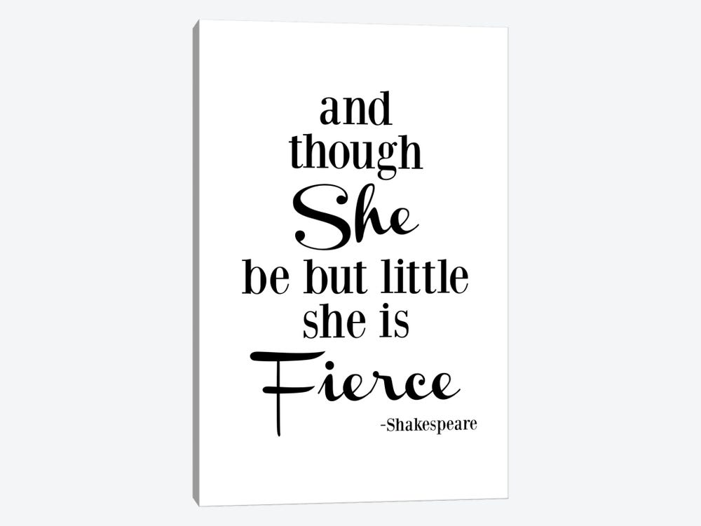 She Is Fierce - Shakespeare by Willow & Olive 1-piece Canvas Art