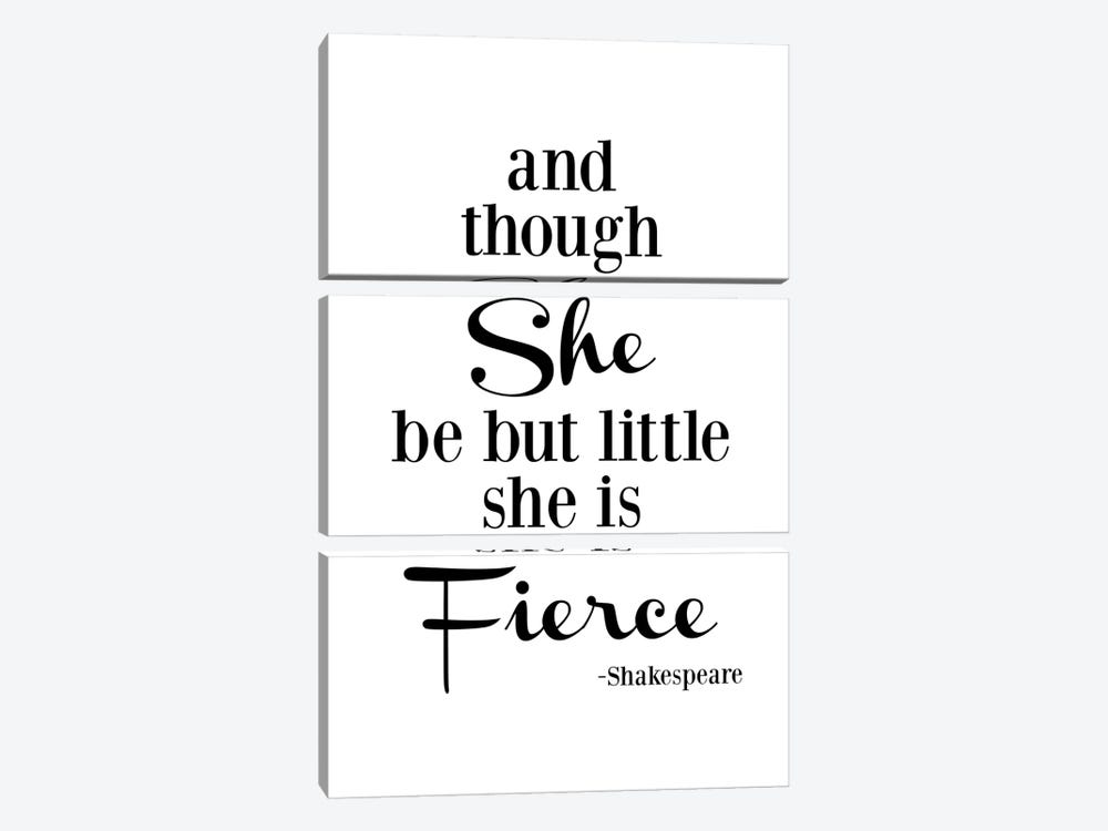 She Is Fierce - Shakespeare by Willow & Olive 3-piece Canvas Art