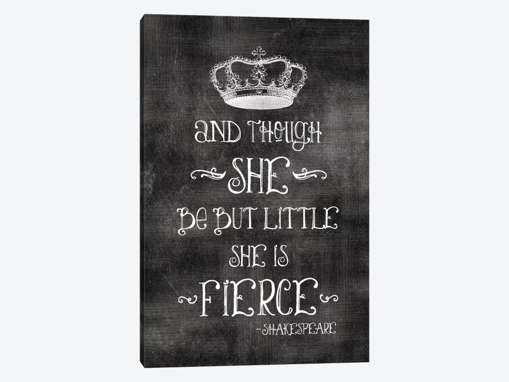 She Is Fierce With Crown - Shakespeare by Willow & Olive 1-piece Canvas Print