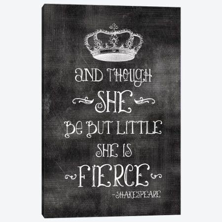 She Is Fierce With Crown - Shakespeare Canvas Print #WAO58} by Willow & Olive Canvas Art