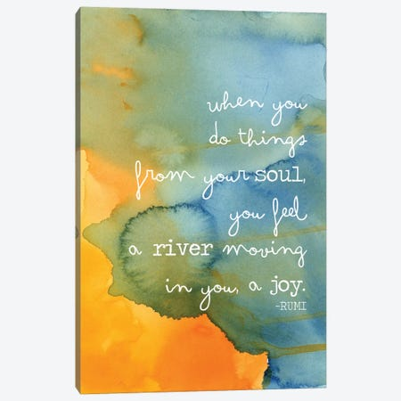 Soul River - Rumi Canvas Print #WAO59} by Willow & Olive Canvas Art