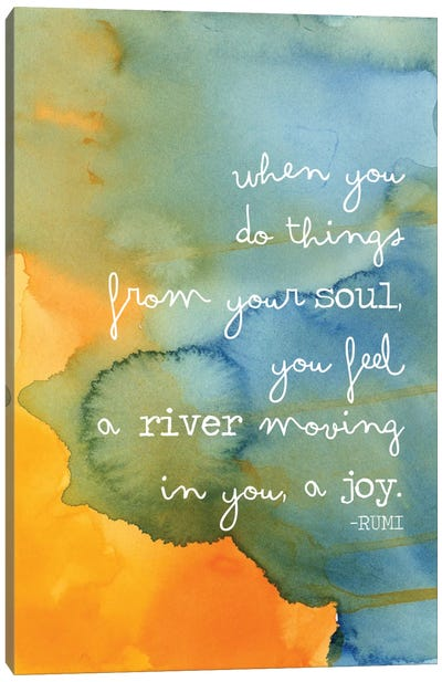 Soul River - Rumi Canvas Art Print