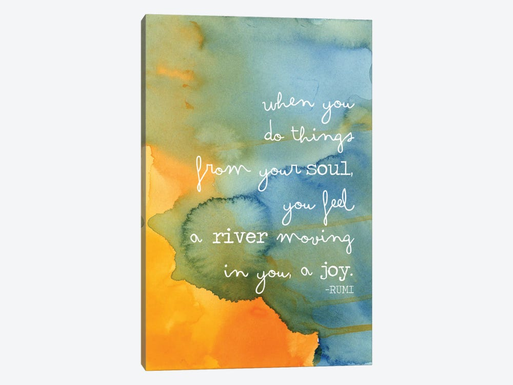Soul River - Rumi by Willow & Olive by Amy Brinkman 1-piece Canvas Art
