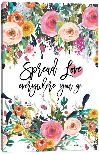 Spread Love Everywhere Canvas Art Print