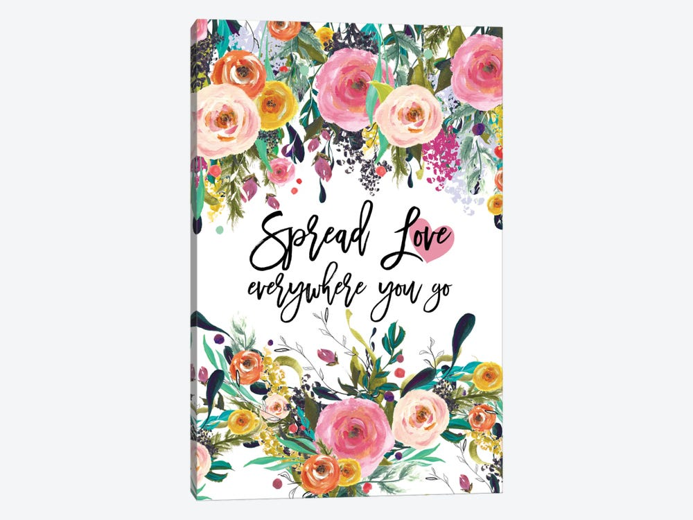 Spread Love Everywhere by Willow & Olive 1-piece Canvas Print