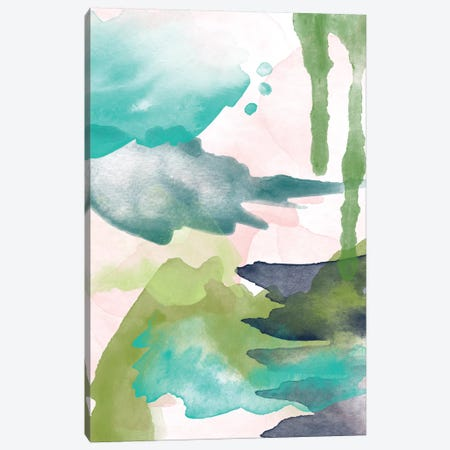 Spring Light Abstract VI Canvas Print #WAO62} by Willow & Olive Canvas Print