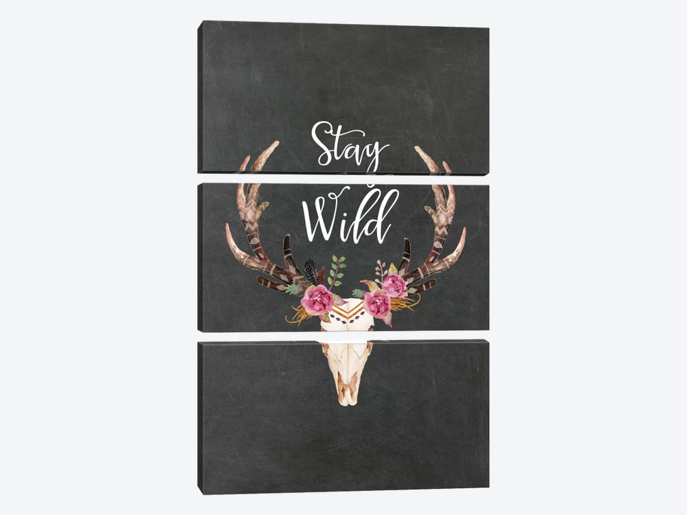 Stay Wild Antlers by Willow & Olive 3-piece Art Print