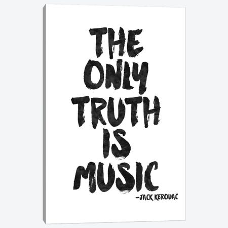 Truth Is Music - Kerouac Canvas Print #WAO64} by Willow & Olive Canvas Artwork