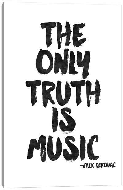 Truth Is Music - Kerouac Canvas Art Print