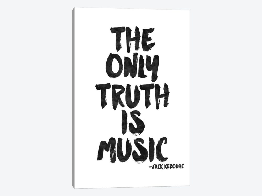 Truth Is Music - Kerouac by Willow & Olive 1-piece Canvas Artwork