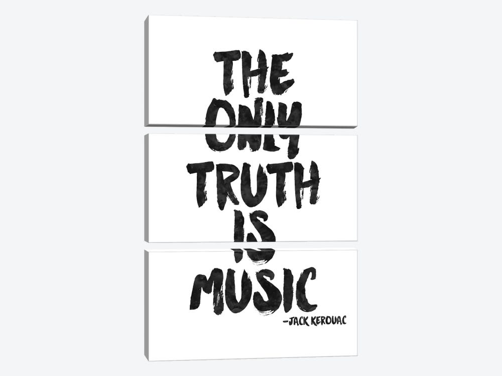 Truth Is Music - Kerouac by Willow & Olive by Amy Brinkman 3-piece Canvas Artwork