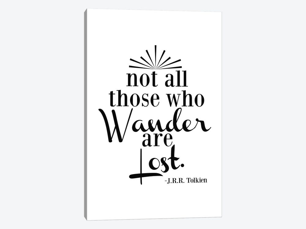 Wander Not Lost - Tolkien by Willow & Olive by Amy Brinkman 1-piece Canvas Art Print