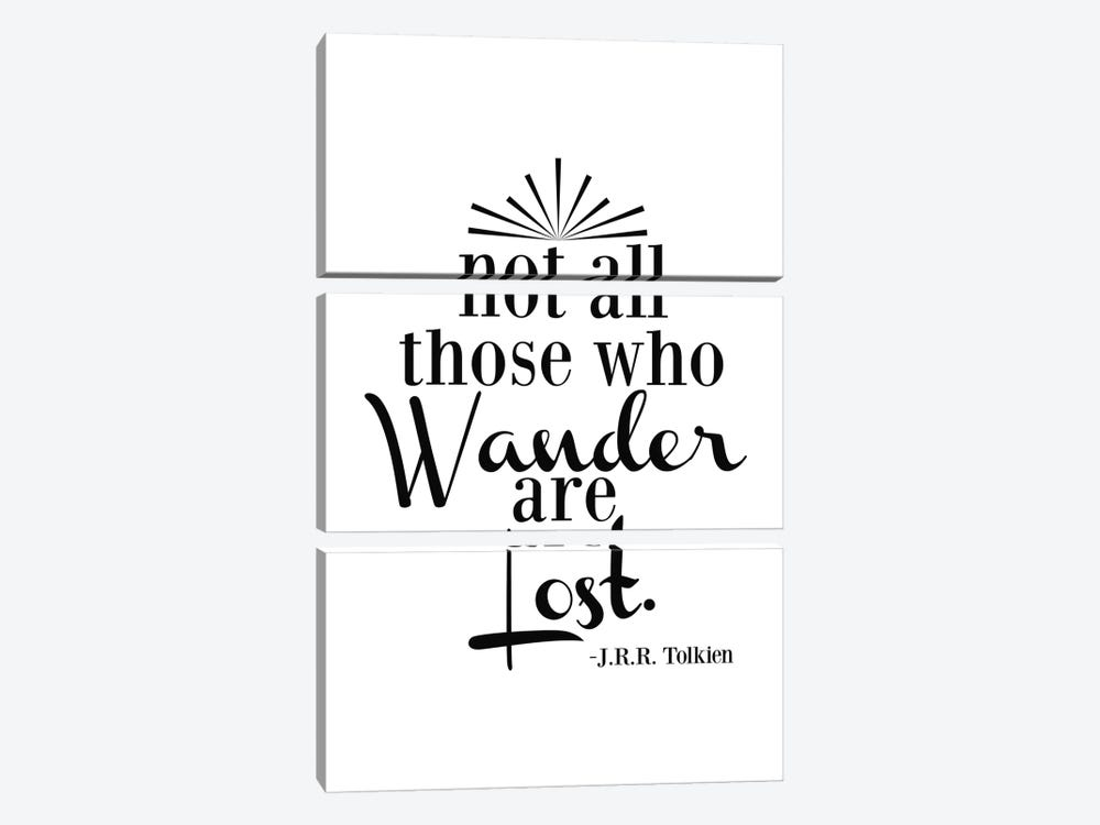 Wander Not Lost - Tolkien by Willow & Olive by Amy Brinkman 3-piece Canvas Art Print