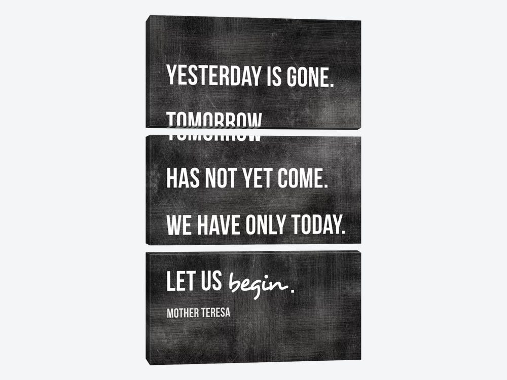 Yesterday Is Gone - Mother Teresa by Willow & Olive 3-piece Canvas Art