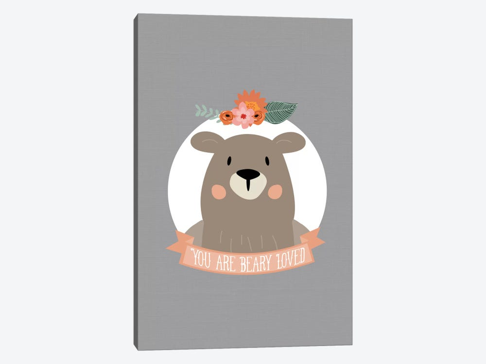 You Are Beary Loved by Willow & Olive by Amy Brinkman 1-piece Art Print