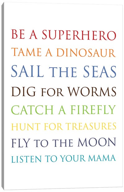 Be A Superhero-Multi Canvas Art Print