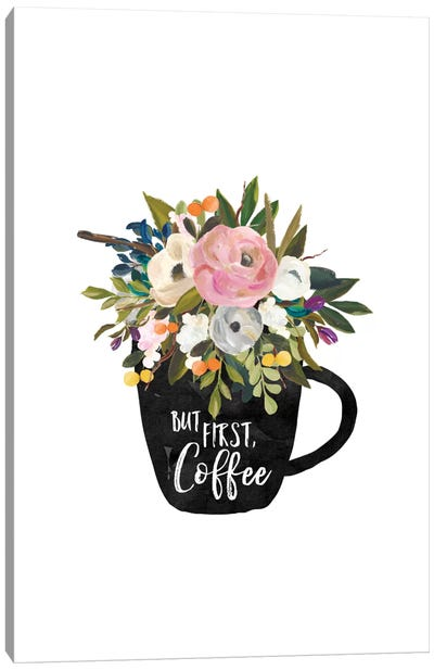 But First Coffee Cup Canvas Art Print