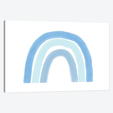 Rainbow-Blue-Landscape Canvas Print #WAO84} by Willow & Olive Canvas Wall Art
