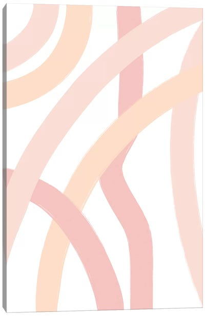 Abstract_Neutral-Lines-White Canvas Art Print