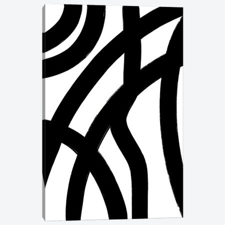 Abstract-Black-Lines Canvas Print #WAO87} by Willow & Olive Canvas Artwork