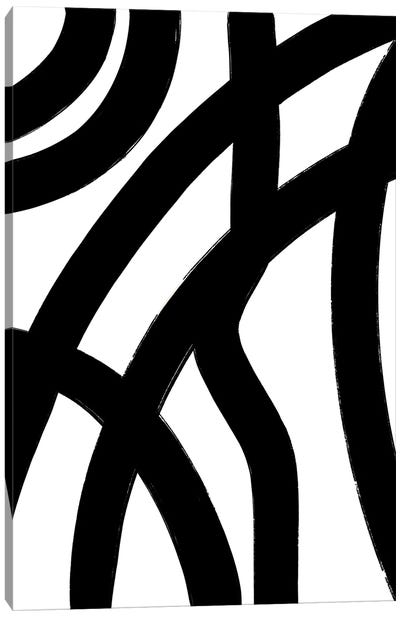Abstract-Black-Lines Canvas Art Print