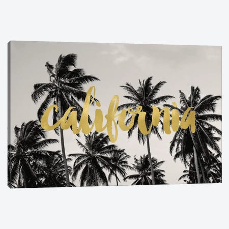 California Palms Gold Canvas Print #WAO8} by Willow & Olive Canvas Art Print