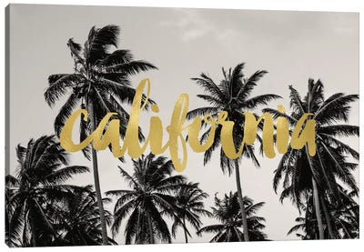 California Palms Gold Canvas Art Print