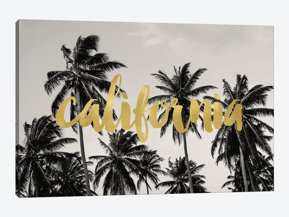 California Palms Gold by Willow & Olive by Amy Brinkman 1-piece Canvas Art Print