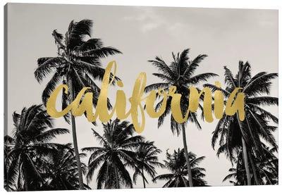 California Palms Gold Canvas Art Print