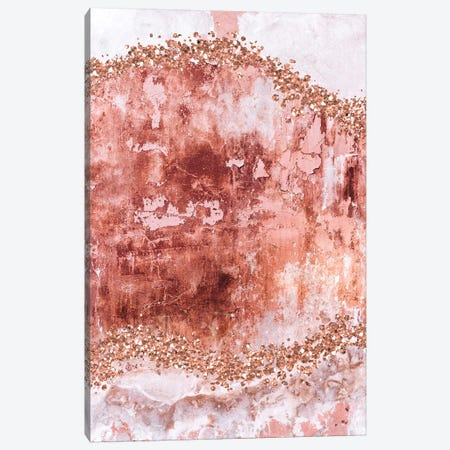 Rose-Gold-Gems-Blush Canvas Print #WAO94} by Willow & Olive Canvas Art Print