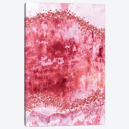 Rose-Gold-Gems-Bubblegum Canvas Print #WAO95} by Willow & Olive Canvas Print
