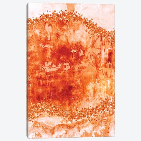 Rose-Gold-Gems-Burnt Orange Canvas Print #WAO96} by Willow & Olive Canvas Print