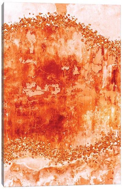 Rose-Gold-Gems-Burnt Orange Canvas Art Print
