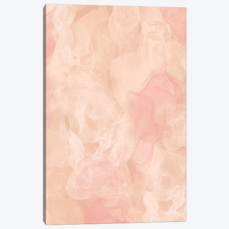 Rose-Gold-Smoke_Peach Nude Canvas Print #WAO98} by Willow & Olive Canvas Artwork