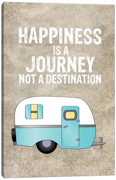 Camper Happiness Is Journey Canvas Art Print