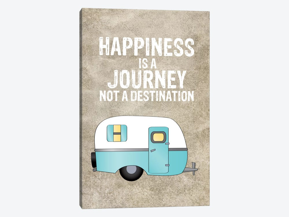 Camper Happiness Is Journey by Willow & Olive 1-piece Canvas Wall Art