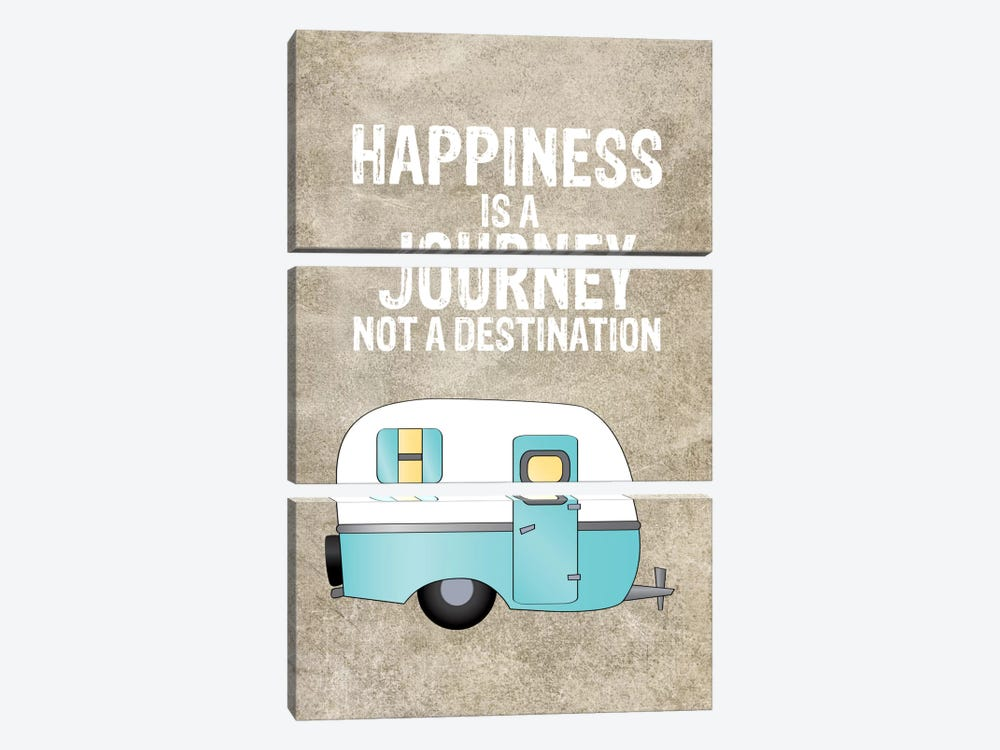 Camper Happiness Is Journey by Willow & Olive by Amy Brinkman 3-piece Canvas Art