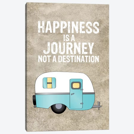 Camper Happiness Is Journey Canvas Print #WAO9} by Willow & Olive Canvas Print