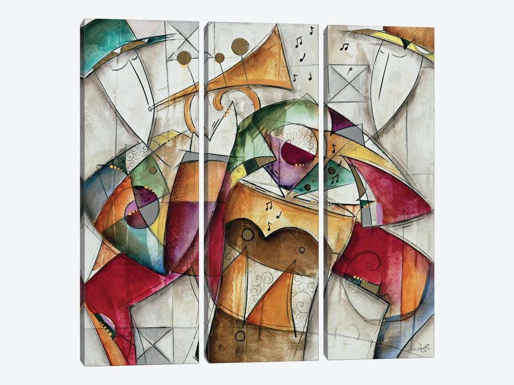Jam Session I by Eric Waugh 3-piece Canvas Art