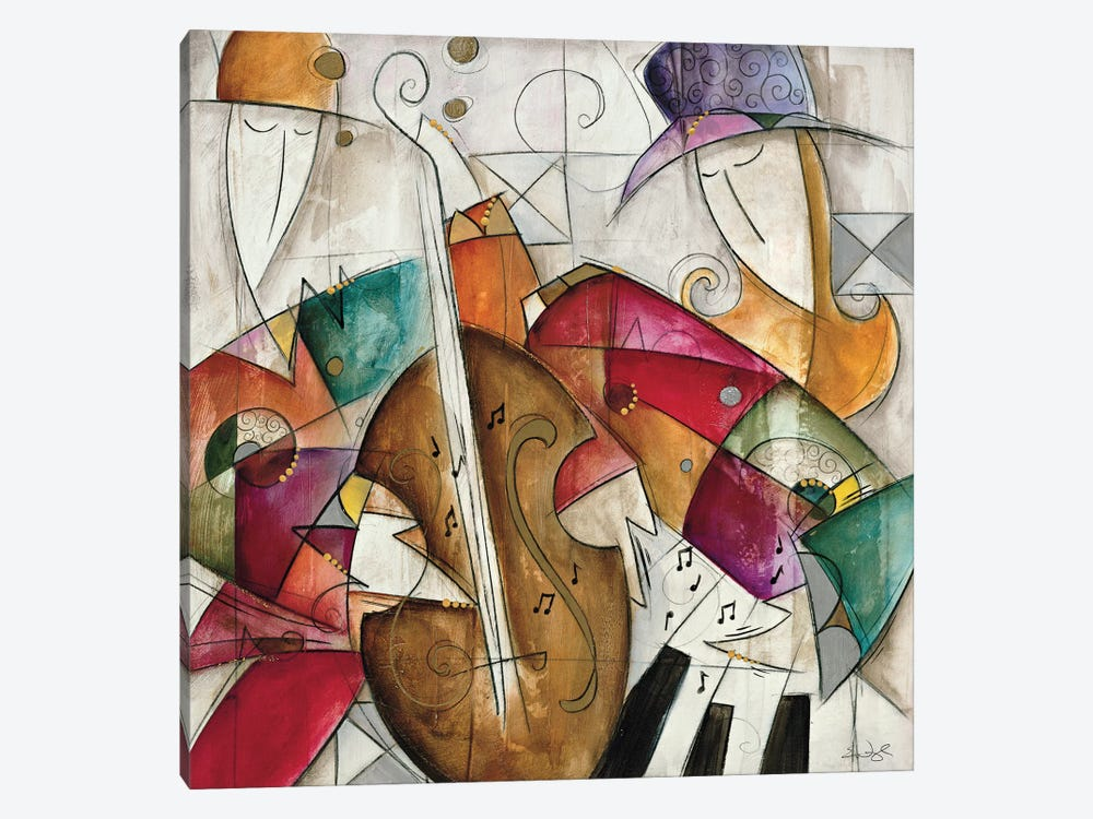 Jam Session II by Eric Waugh 1-piece Canvas Art Print