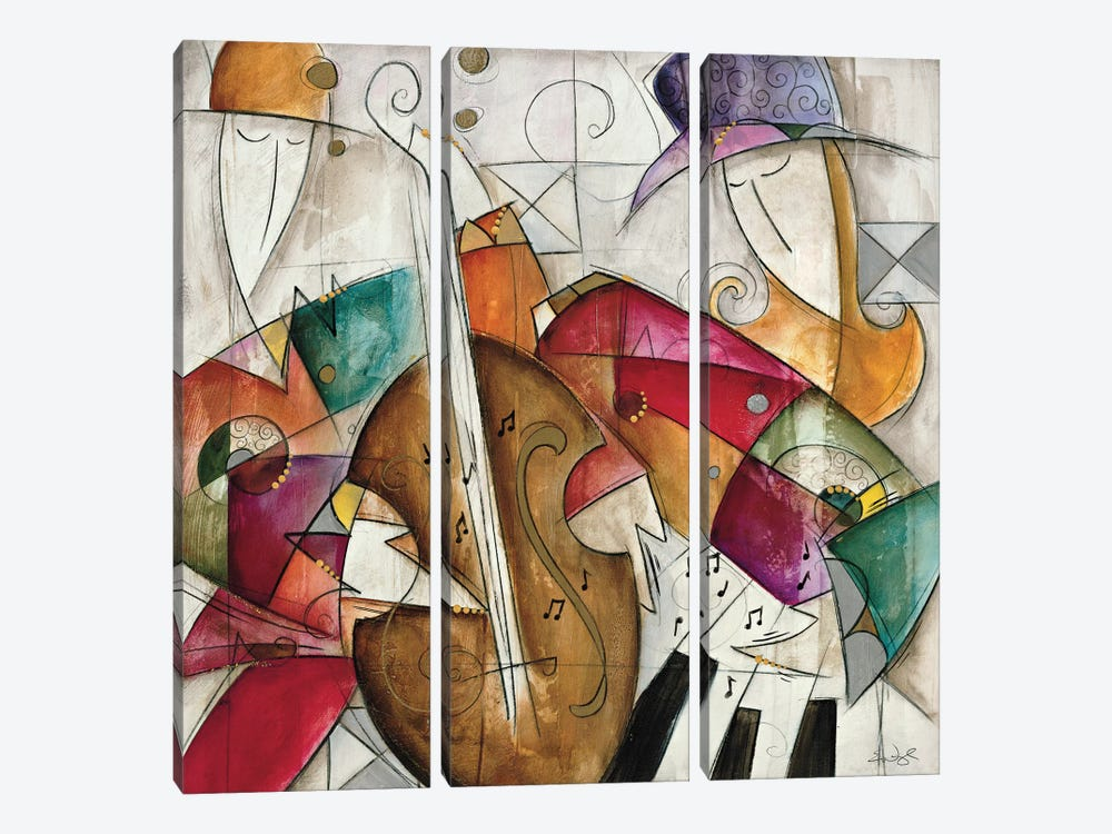 Jam Session II by Eric Waugh 3-piece Canvas Print