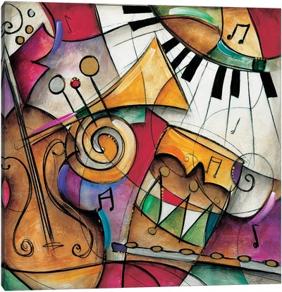Jazz It Up I Canvas Art Print