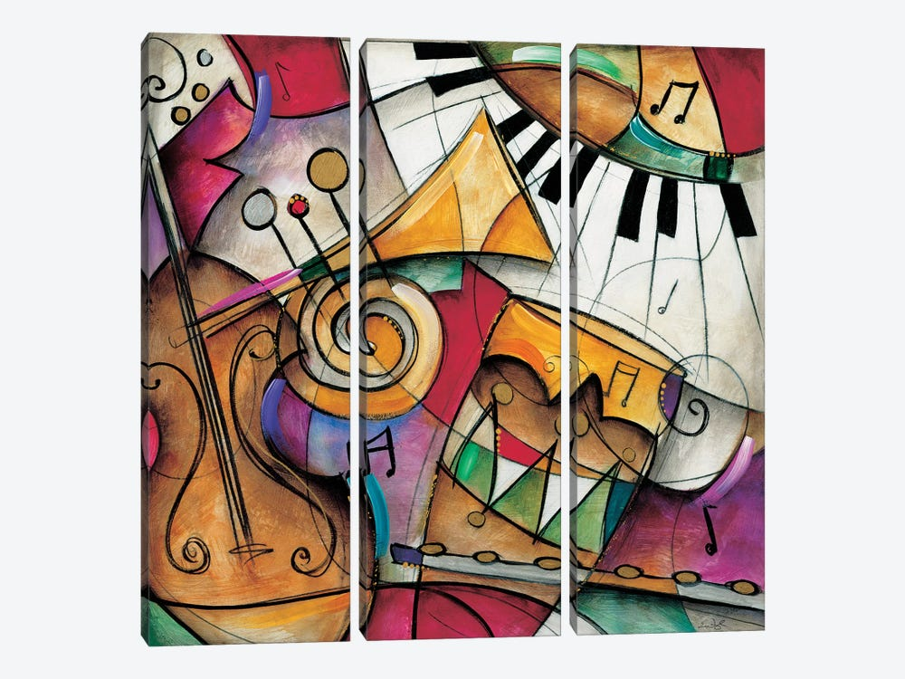 Jazz It Up I by Eric Waugh 3-piece Canvas Art