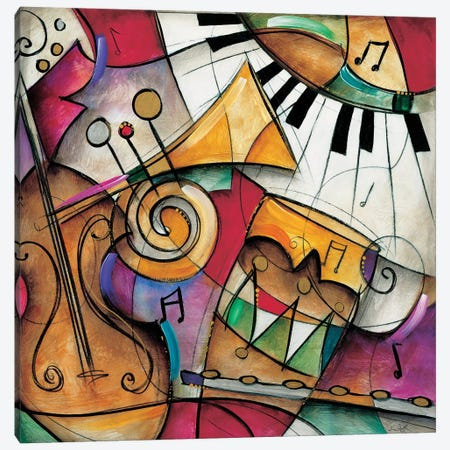 Jazz It Up I Canvas Print #WAU12} by Eric Waugh Canvas Wall Art