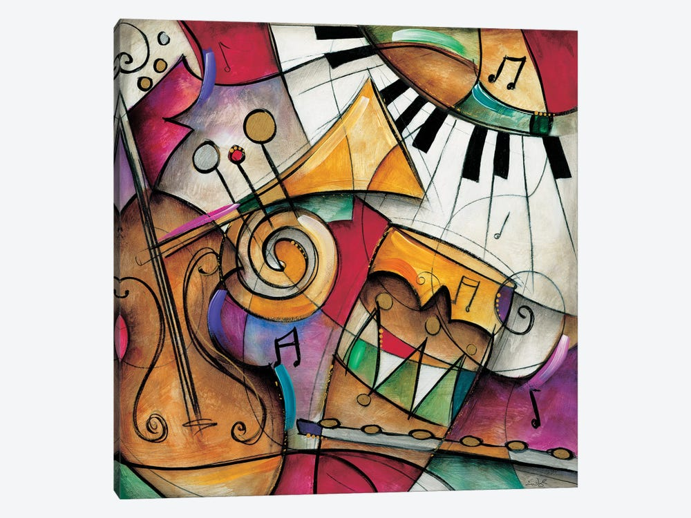 Jazz It Up I by Eric Waugh 1-piece Canvas Wall Art