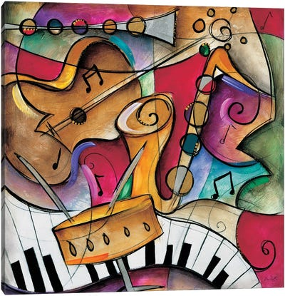 Jazz It Up II Canvas Art Print