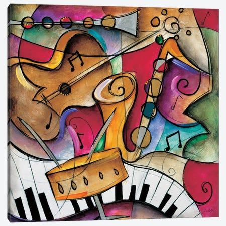 Jazz It Up II Canvas Print #WAU13} by Eric Waugh Canvas Wall Art