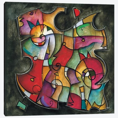 Noir Duet I Canvas Print #WAU14} by Eric Waugh Art Print